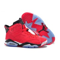 Air Jordan 6 VI Cactus Red Suede Black For Mens And Women Xmas Deals 2016