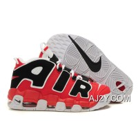 """Nike Air More Uptempo """"Asia Hoop Pack"""" Varsity Red/White-Black New Release"""