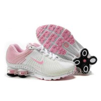 Kid's Nike Shox R4 Shoes White/Light Pink Online